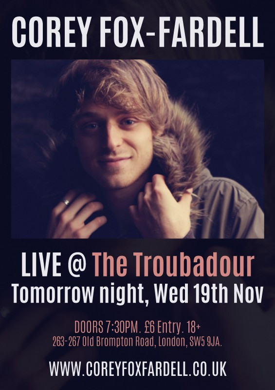 Troubadour, Wed 19th Nov 2014