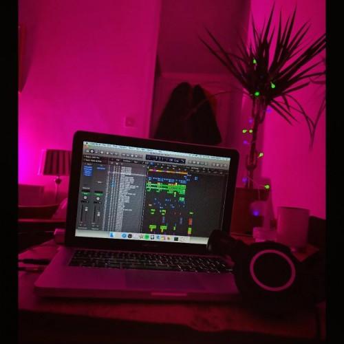 late night pink light write right,